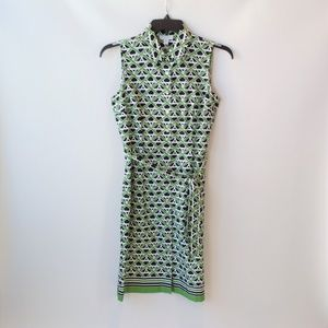 Charter Club Green Black Sleeveless Dress 10P
